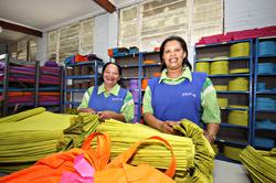 Two of the hard working GUSCO women