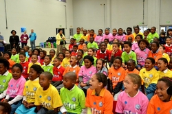 The children at the Show of Hands Promoting Literacy project with Nal'ibali.